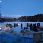 長野県松原湖ファミリーロッジ宮本屋ワカサギ釣り大会参加報告