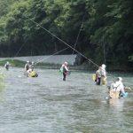 8月5日(日)開催、メーカーと釣りクラブのコラボ、鮎友釣り初心者講習会がありました。